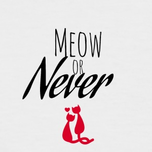 Meow or Never - Men's Baseball T-Shirt