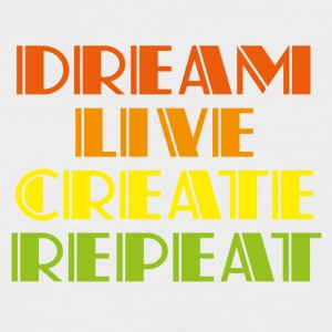 Dreamlive create repeat - Men's Baseball T-Shirt