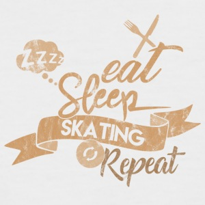 EAT SLEEP SKATING REPEAT - Kortærmet herre-baseballshirt