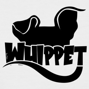 Whippet Silhouette - Black - Men's Baseball T-Shirt