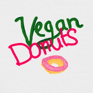 Vegan Donuts - Men's Baseball T-Shirt
