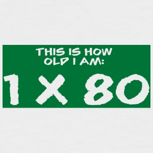 80. Geburtstag: This Is How Old I Am: 1 x 80 - Männer Baseball-T-Shirt