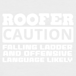 Roofing: Roofer. Caution. Falling Ladder And - Men's Baseball T-Shirt