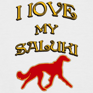 I LOVE MY DOG Saluki - Men's Baseball T-Shirt