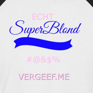 Super Blonde transparente - T-shirt baseball manches courtes Homme