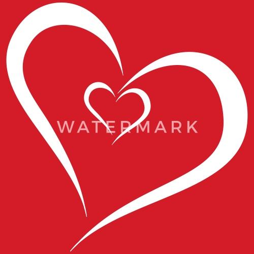 Zwei Herzen Ineinander Turnbeutel Spreadshirt