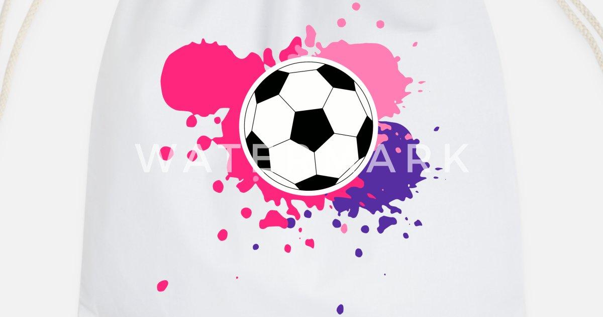 f125c725 Fotball med rosa og lilla for Women's World Cup Gymbag | Spreadshirt