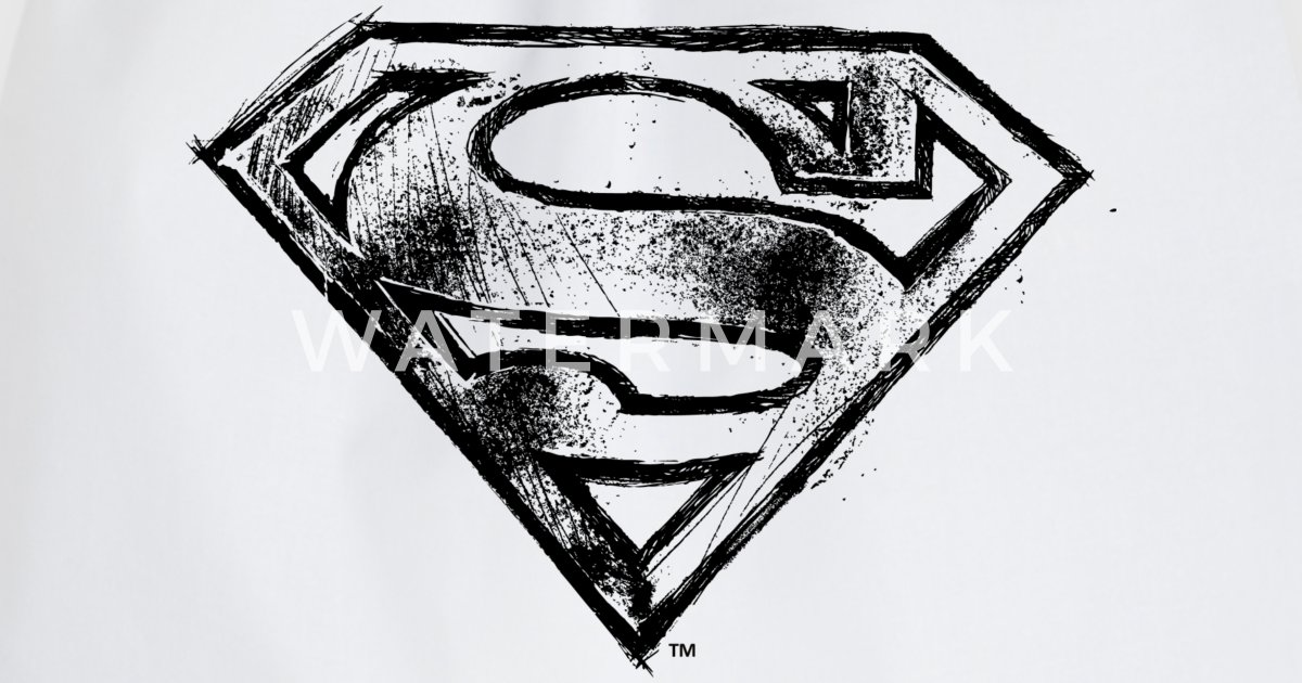 Superman S Shield Logo Black And White Van Superman Spreadshirt