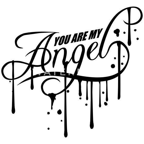 Graffiti Tropfen Spray Stempel Engel Shirt Design Turnbeutel