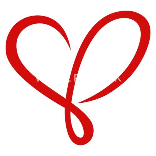 Herz Liebe Valentinstag Paar Schnorkel Rot Turnbeutel Spreadshirt