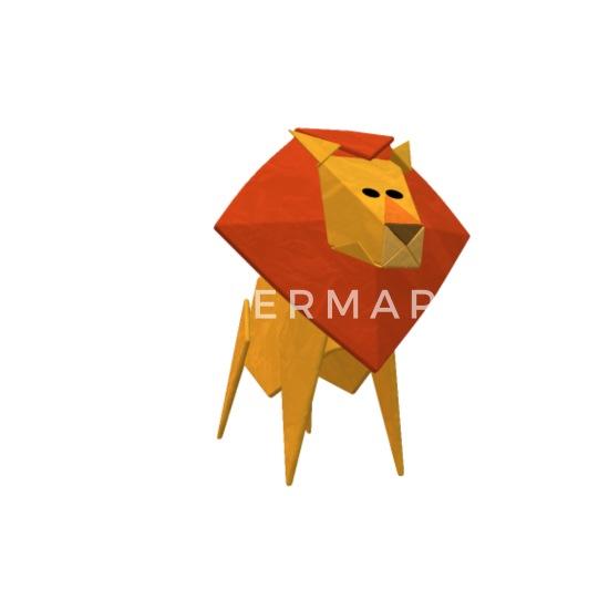 Lion Origami Necklace | 550x550