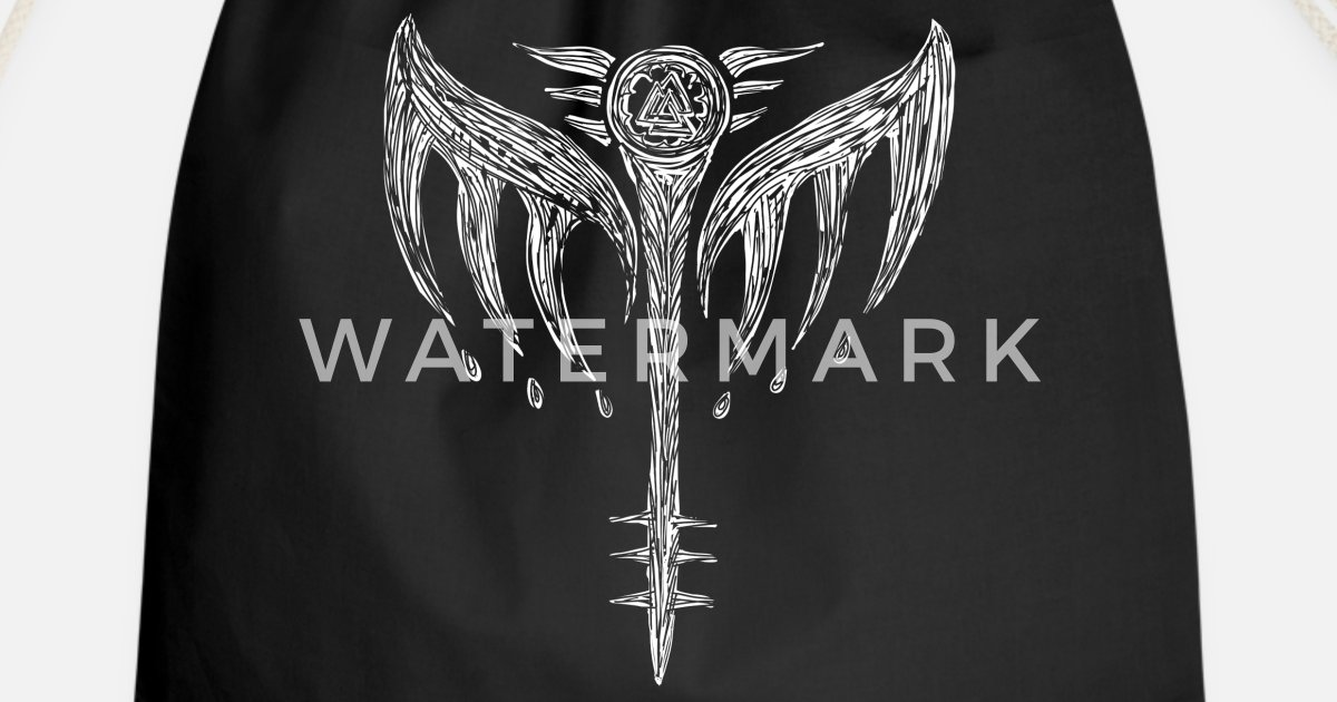 Walküre Valkyrie Symbol Flügel Odin Walhalla Turnbeutel Spreadshirt