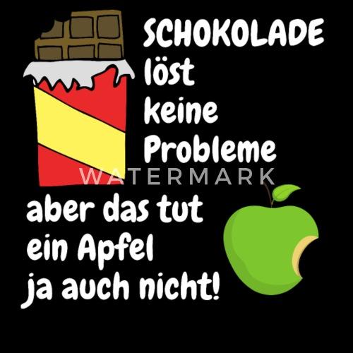 Schokolade Schoko Schoki Diat Spruch Lustig Witzig Turnbeutel