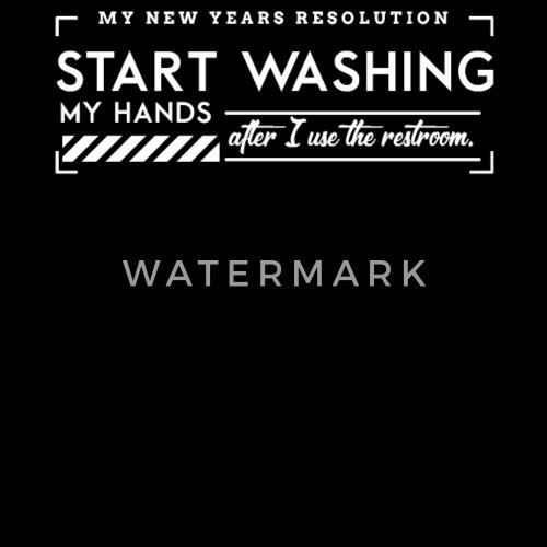 Vorsatz Vorsätze Resolution Hände Waschen Toilette Turnbeutel