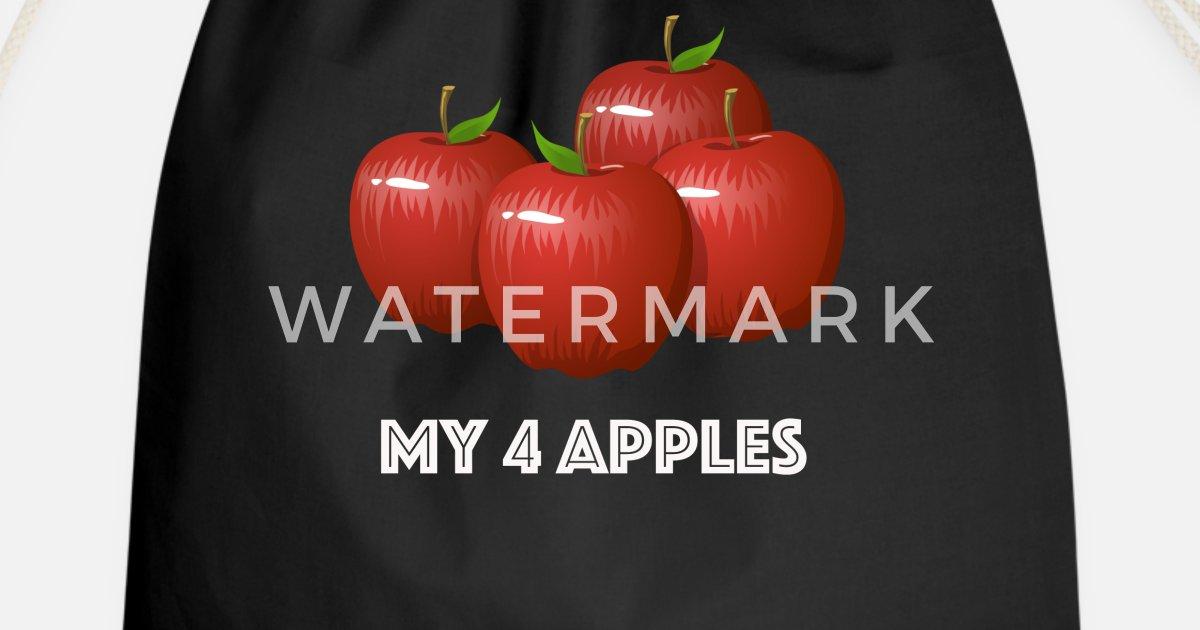 Apfel Herbst Lustige Sprüche Student Apfelbaum Turnbeutel Spreadshirt
