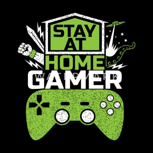 Stay At Home Gamer Video Games Game Gaming Drawstring Bag Spreadshirt
