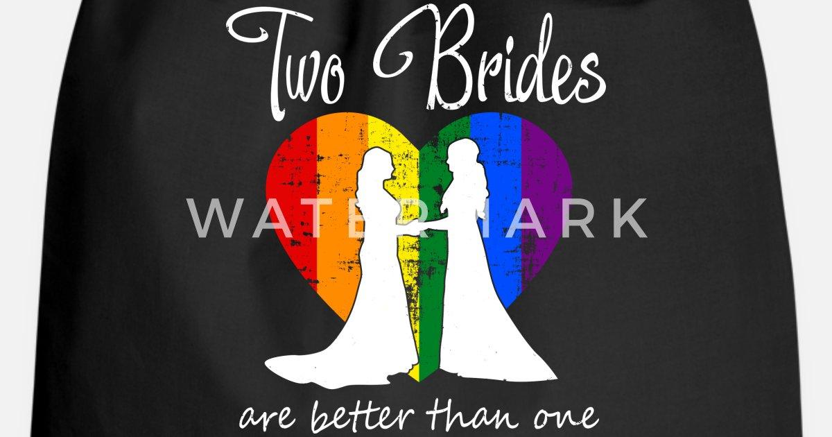 Lesben Hochzeit Lgbt Brides Zwei Braute Geschenk Turnbeutel
