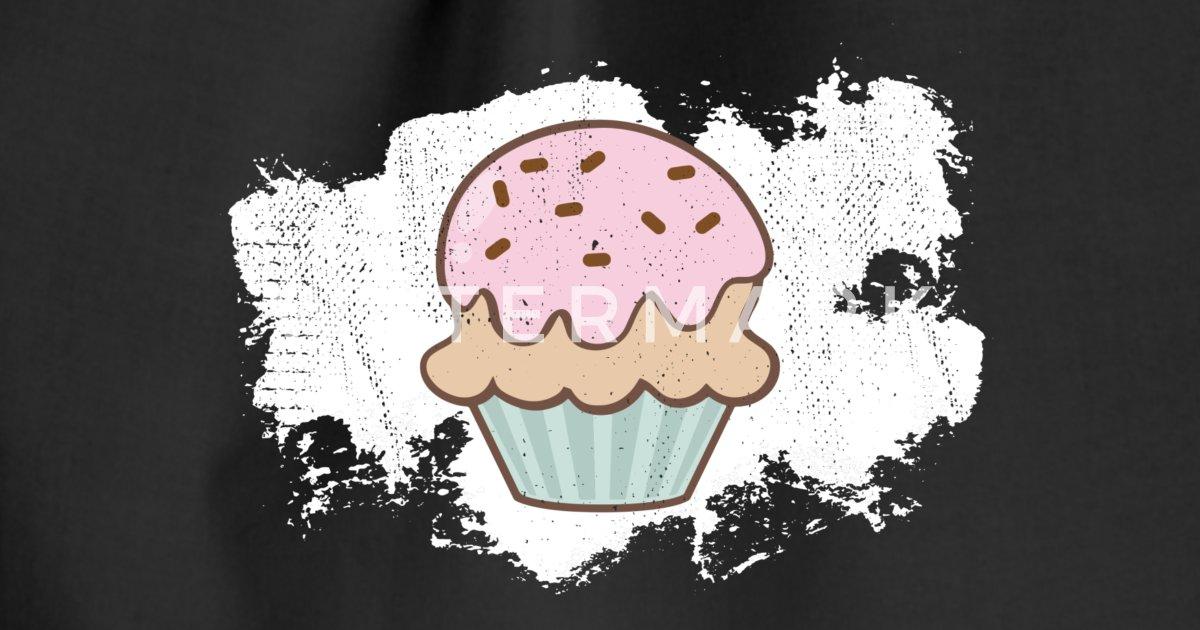 Cupcake Kuchen Essen Lecker Niedlich Turnbeutel Spreadshirt