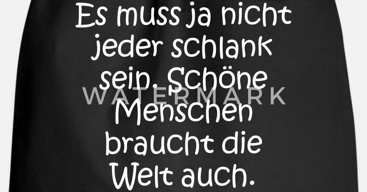 Lustige Sprüche Schön Dick Fett Ironisch Favorit Turnbeutel Spreadshirt