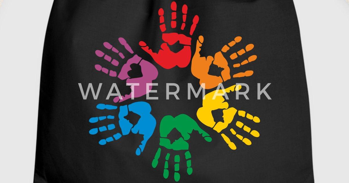 Regenbogen Handabdruck von CSart | Spreadshirt