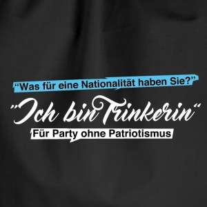 Party ohne Patriotismus - Trinkerin