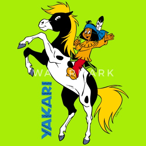 yakari winkt auf kleiner donner drawstring bag spreadshirt
