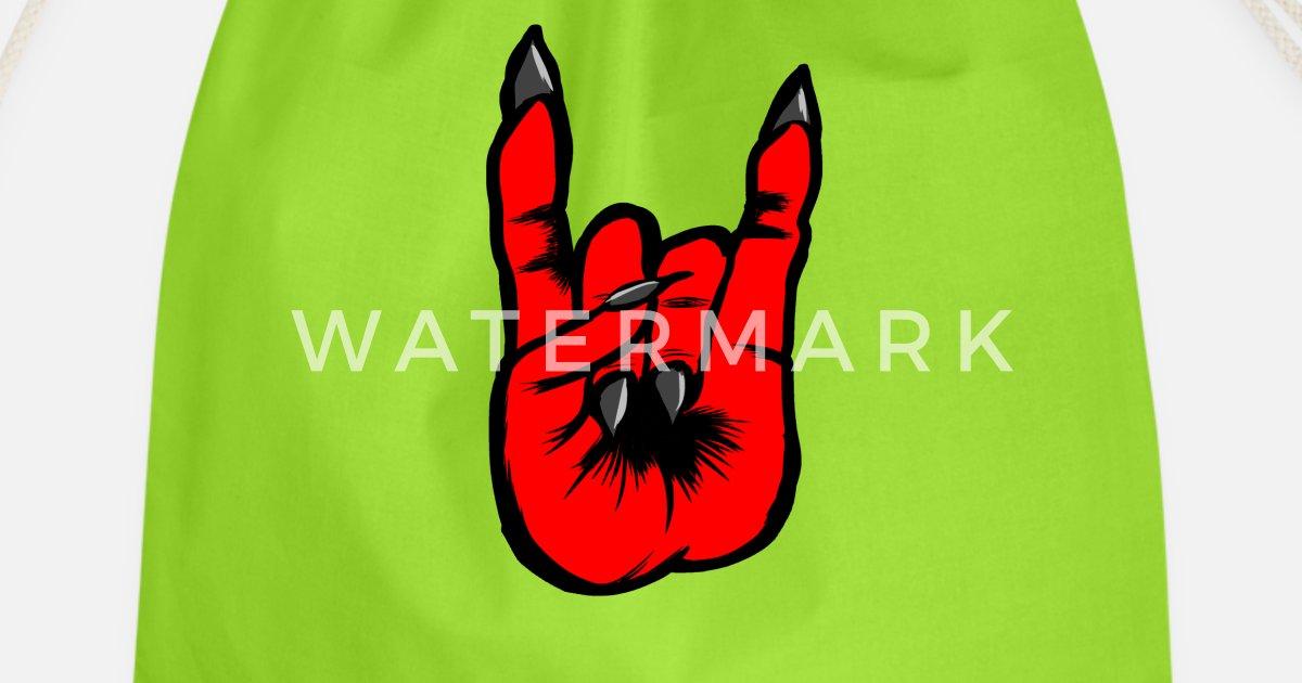 Heavy Metal Diable Rock Signe Rocker Punk Satan Sac à Dos Cordon Spreadshirt