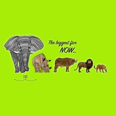 Africa Buttons LargeSpreadshirt Five Animals Big EDH92IW