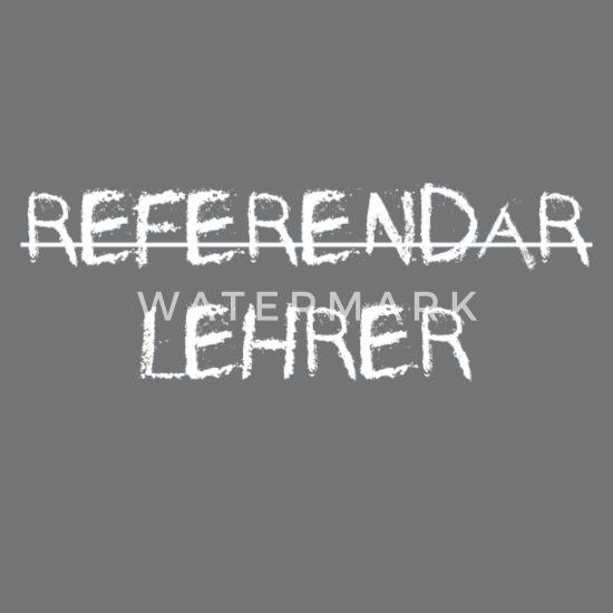 Referendar Lehrer Bestanden Kreideschrift Geschenk Turnbeutel