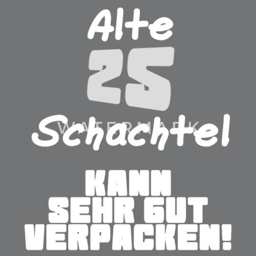 25 Funfundzwanzigster Geburtstag Alte Schachtel Turnbeutel