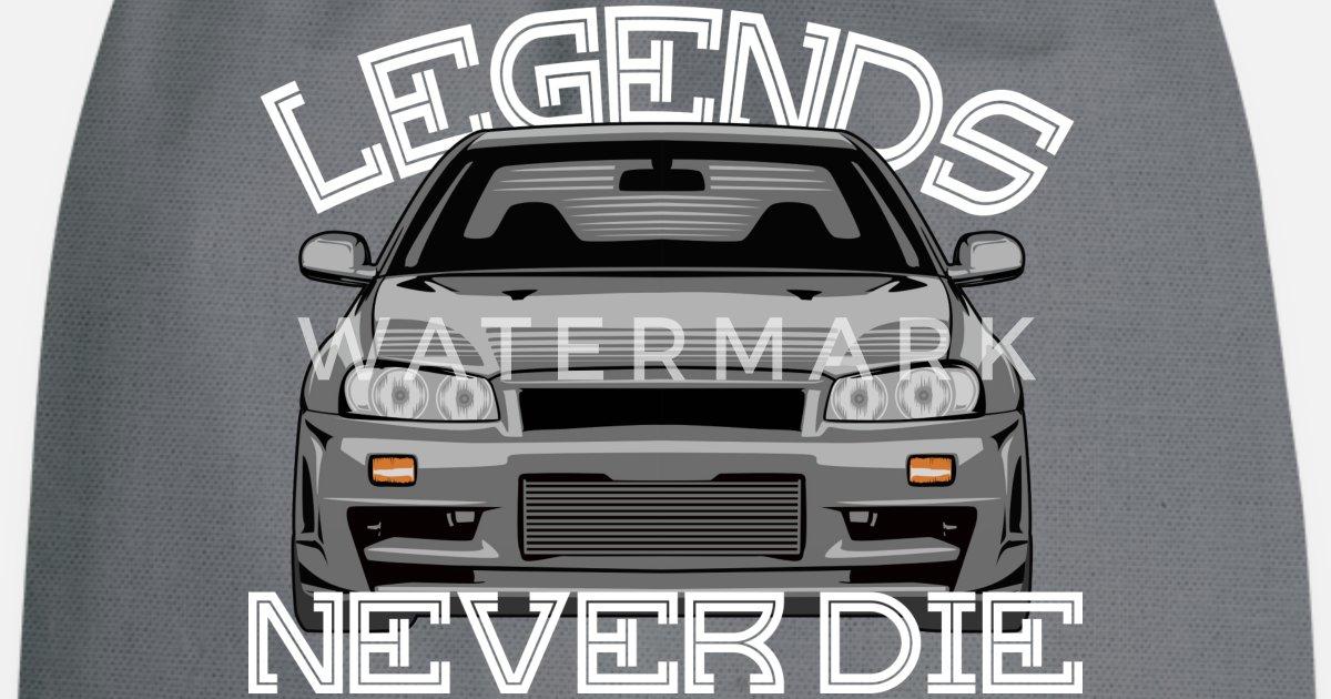 Legends Never Die Skyline R34 Turnbeutel Spreadshirt