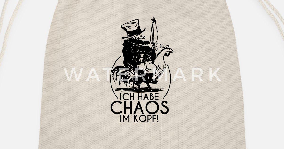 Chaos Im Kopf Shirt Kopfkino Freak Lustige Spruche Turnbeutel