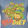 TMNT Turtles Ninja Pizza Diet - Vintage-T-skjorte for menn