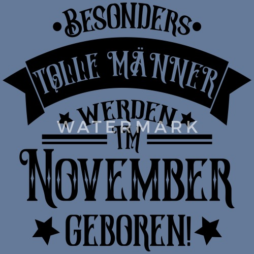 Geboren Im November Geburtstag Mann Manner Vintage T Shirt Spreadshirt