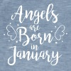 Angels are born in January - Men's Vintage T-Shirt