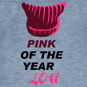 pink of the year - pussyhat - Männer Vintage T-Shirt