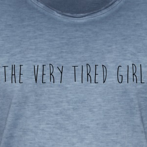 the very tired girl - Men's Vintage T-Shirt