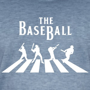 baseball - Vintage-T-skjorte for menn