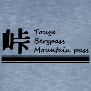 Touge text - Vintage-T-shirt herr