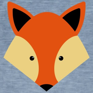 fox - Vintage-T-skjorte for menn