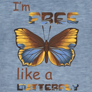 i m free like a butterfly - Men's Vintage T-Shirt