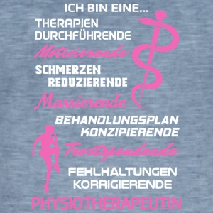 Physiotherapeutin/Physiotherapie/Physiotherapeut - Männer Vintage T-Shirt