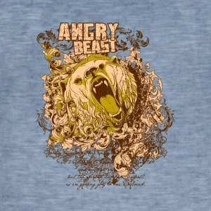 Angry Beast - T-shirt vintage Homme