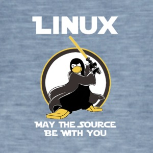 may_the_linux_source - Vintage-T-shirt herr