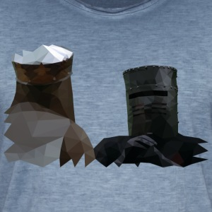 King Arthur and the Black Knight - Monty Python - Men's Vintage T-Shirt