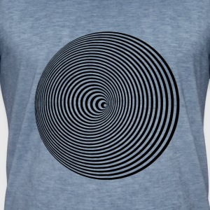 hypnotic kreise LSD LP optik hipster fancy trend - Männer Vintage T-Shirt