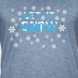 LET IT SNOW - Mannen Vintage T-shirt