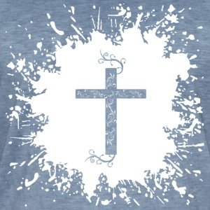 Cross Splash 2 - Vintage-T-skjorte for menn