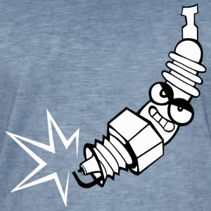 Spark plug comic with face - Men's Vintage T-Shirt
