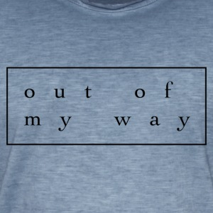 outofmyway Collection - Vintage-T-skjorte for menn